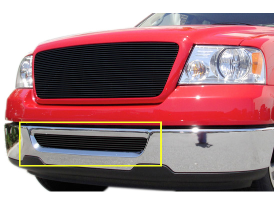 2006-2008 F150 T-Rex Billet Lower Bumper Overlay Grille (Black)