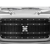 2018-2020 F150 T-Rex X-Metal Studded Upper Grille (Black with Chrome Studs)