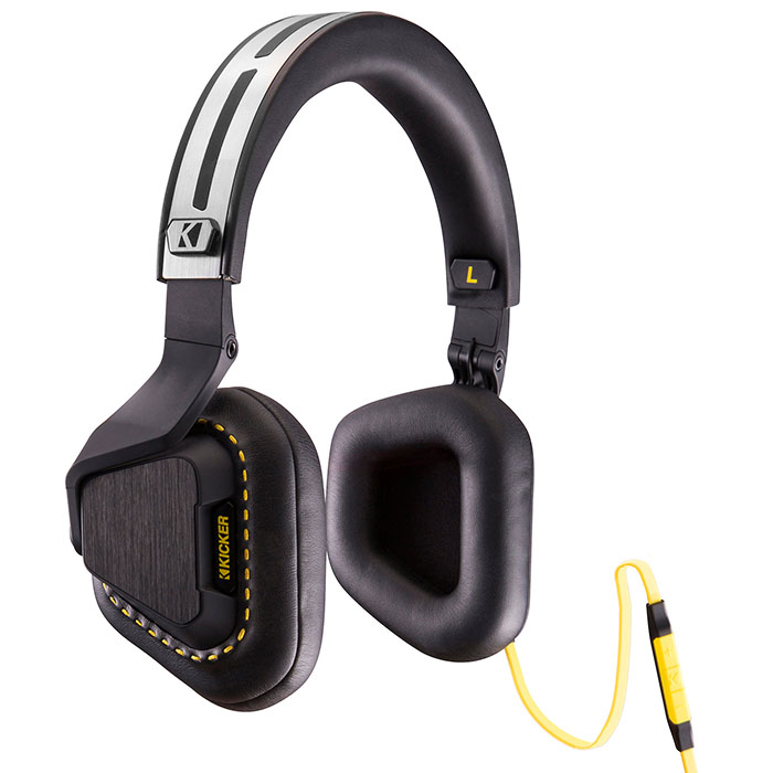 KICKER Vapor 3-Button Premium Headphones w/ Microphone