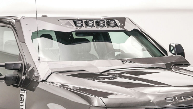 2017 2019 F250 Amp F350 Fab Fours Vicowl Roof Visor And Cowl