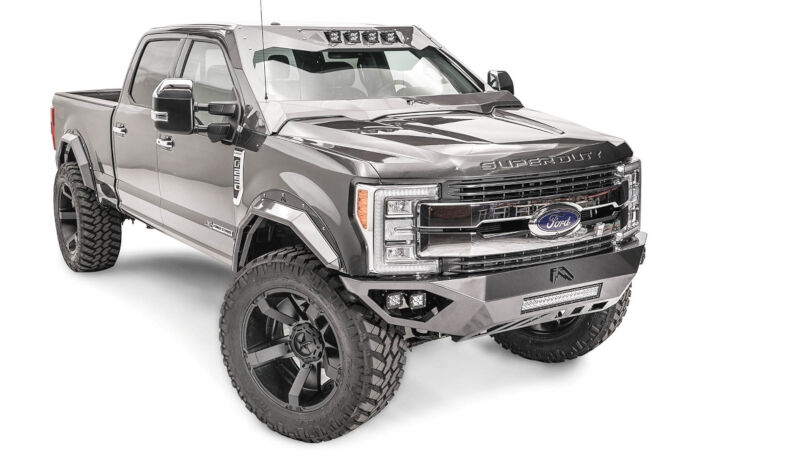 2019 Ford F350 >> 2017-2019 F250 & F350 Fab Fours ViCowl Roof Visor and Cowl VC4100