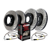 2010-2011 F150 StopTech Front & Rear Drilled & Slotted Sport Axle-Pack Brake Kit