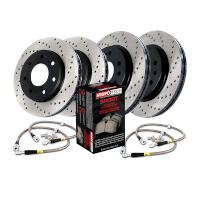 2010-2011 F150 StopTech Front & Rear Drilled Sport Axle-Pack Brake Kit