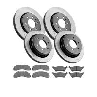 2012-2014 F150 StopTech Front & Rear Slotted Street Axle-Pack Brake Kit