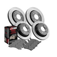 2010-2011 F150 StopTech Front & Rear Slotted Truck Axle-Pack Brake Kit