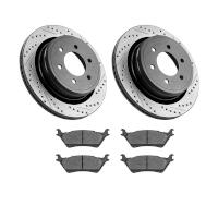 2012-2018 F150 StopTech Rear Drilled & Slotted Street Axle-Pack Brake Kit