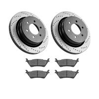 2010-2011 F150 StopTech Rear Drilled Street Axle-Pack Brake Kit