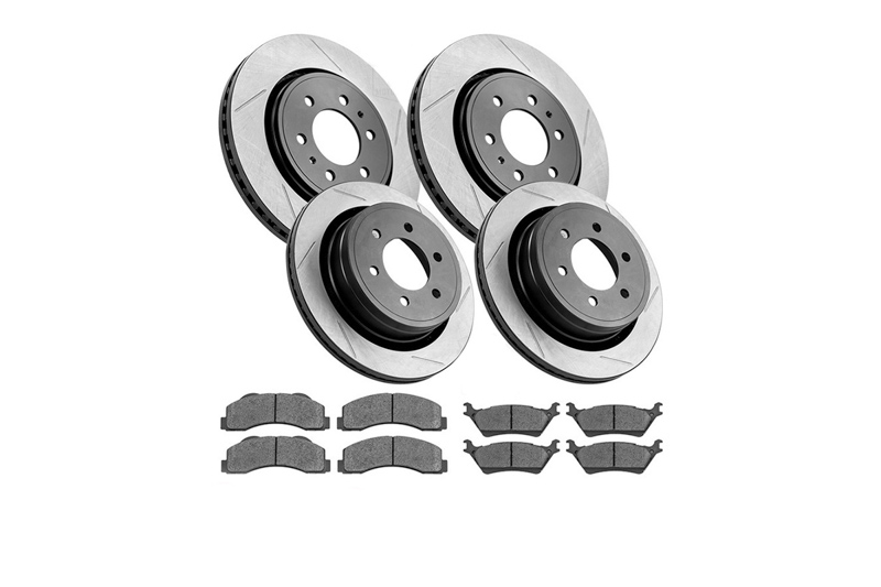 Stoptech 970.44054 Truck Axle Pack Slotted Front