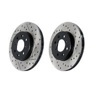 2005-2014 Mustang StopTech Sport Cross-Drilled Rear Rotors (Excludes 13-14 GT500)
