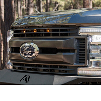 2017-2019 F250 & F350 Non-Platinum Custom Auto Works Raptor Style Grille Light Kit