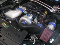 2008 Mustang Bullitt 4.6L Vortech V-3 Si H.O. Supercharger w/ Charge Cooler (Satin)