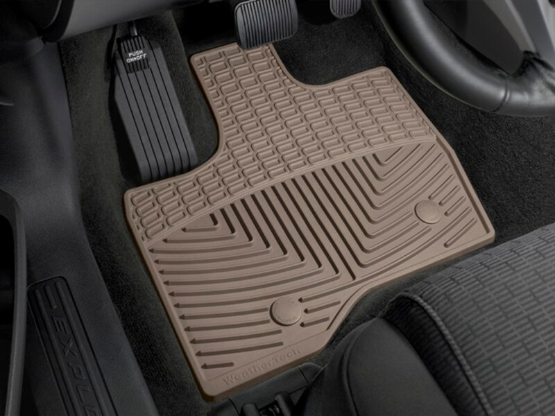 2011-2014 Explorer WeatherTech All-Weather Floor Mats (Tan)