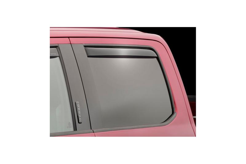 Weathertech Side Window Deflectors >> 2019 2020 Ford Ranger Supercrew Weathertech Rear Side Window Deflectors Dark Smoke 81937