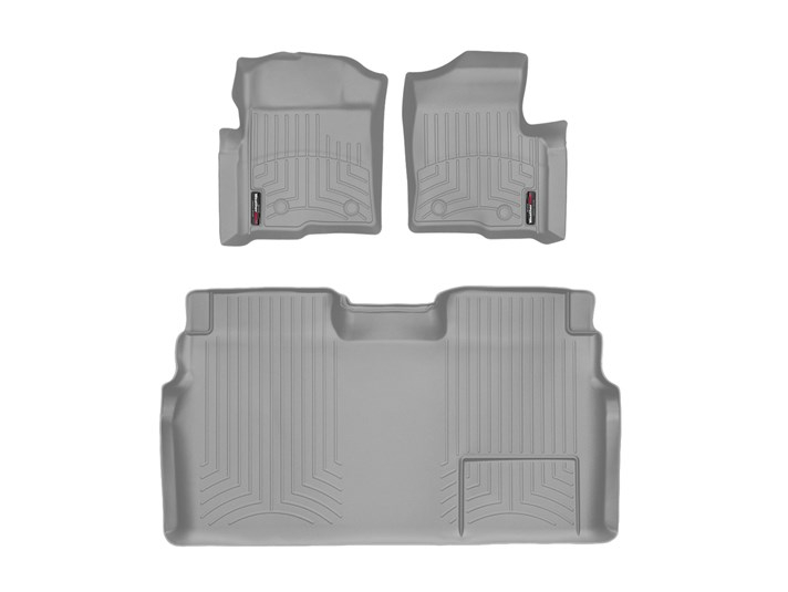 2009-2014 F150 & Raptor SuperCrew WeatherTech Front & Rear Digital Fit Floor Mats (Grey)