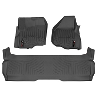 2011-2016 F250 & F350 SuperCab WeatherTech Digital Fit Front & Rear Floor Mats