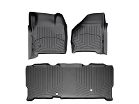 1999-2007 Super Duty Super Cab WeatherTech Digital Fit Front & Rear Floor Mats (Black)