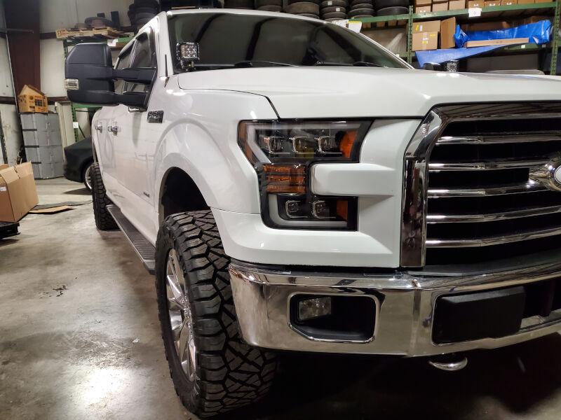 """3/"""" Cube LED Work Light Bumper Metal Mout Brackets Kit For 10-14 Ford Raptor F150"""