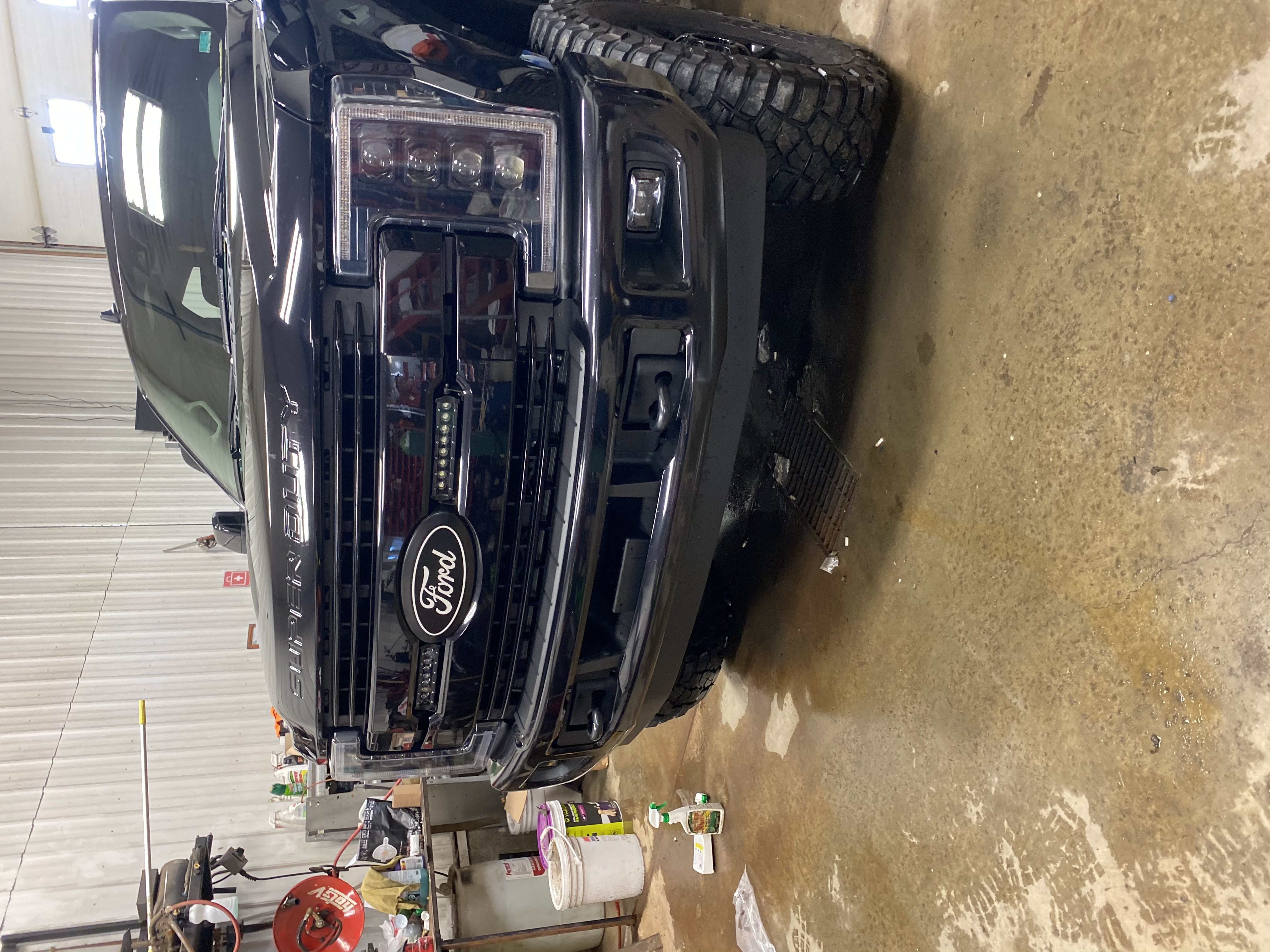 2017 2019 F250 F350 Putco Official Ford Licensed Front Rear Black Bolt On Ford Emblems No Camera Provision 92700