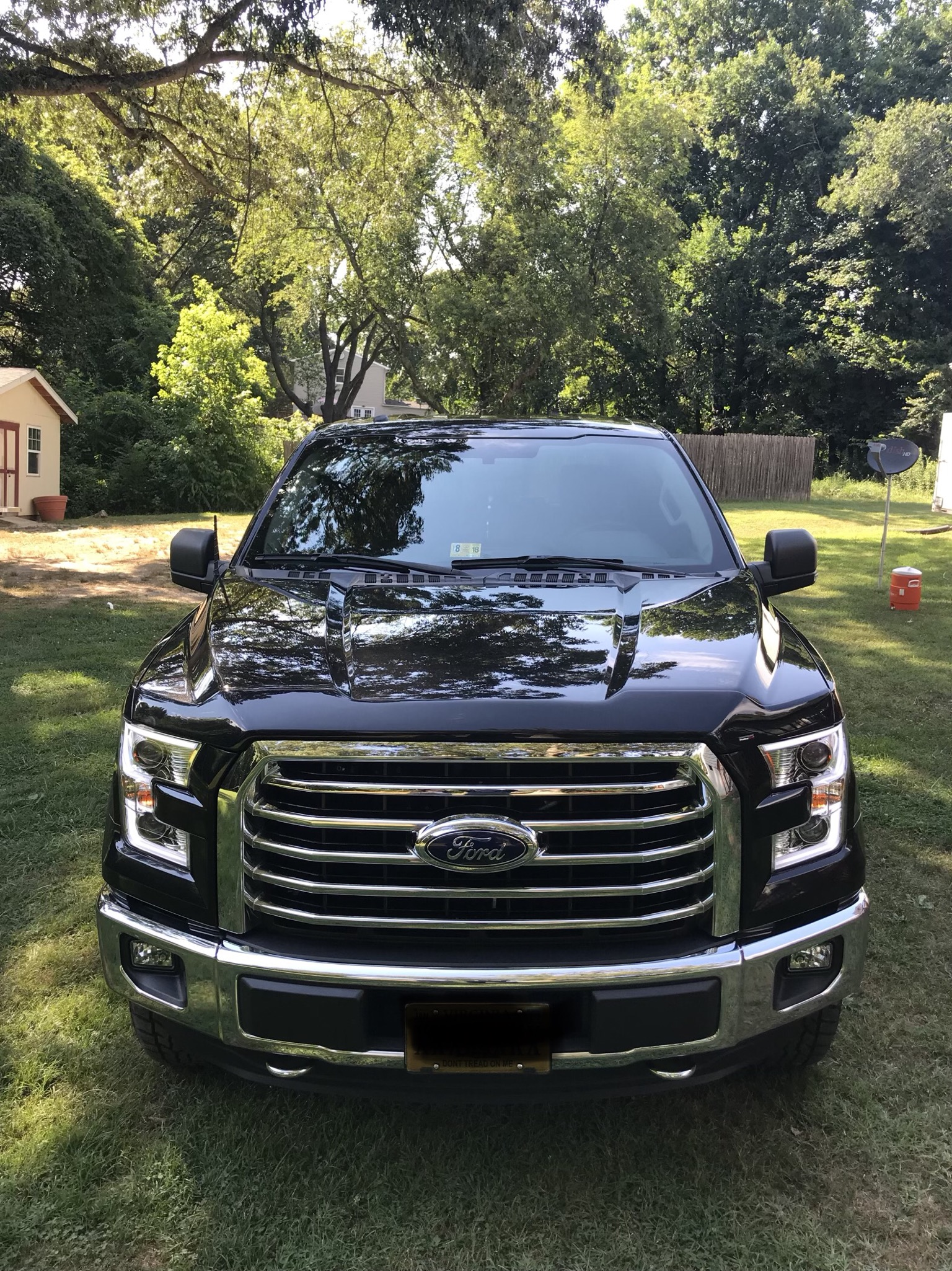 2015-2017 F150 ANZO LED Switchback Outline Projector Headlights (Chrome  Housings)