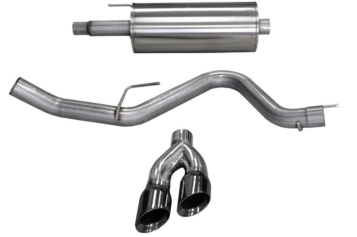 2011-2014 F150 EcoBoost 3.5L Corsa Cat-Back Exhaust Kit (Black Tip)