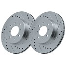 05-10 Mustang GT StopTech C-Tek  Drilled/Slotted Front Rotor Set (Fits 11-14 V6) 02