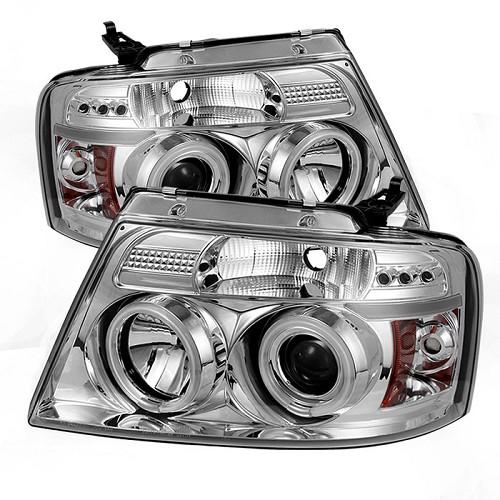 2004-2008 F150 Spyder Projector Headlights w/ CCFL Halos ...