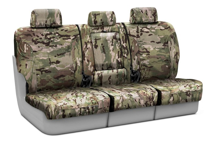 2004-2008 F150 CoverKing Ballistic Multi-Cam Classic Tan Camo Rear Seat Covers