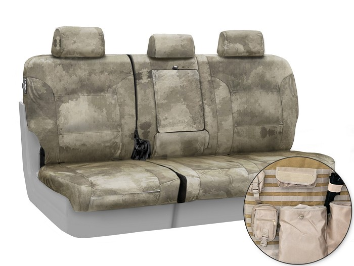 2015-2020 F150 CoverKing Ballistic A-TACS Arid/Urban Camo Rear Seat Covers