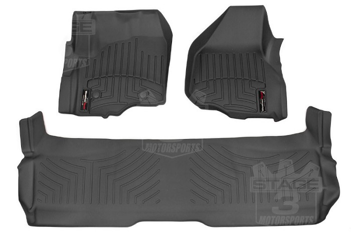 11-16 F250 & F350 Crew Cab WeatherTech Digital Fit Front & Rear Mats
