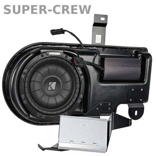 2009-2014 F150 & Raptor Kicker VSS PowerStage Powered Subwoofer Kit (Super Crew)