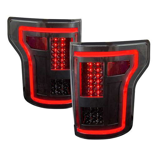 2015-2017 F150 ANZO Gen 2 Black LED Outline Taillights
