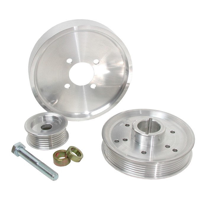 2001-2004 Mustang GT / Cobra 4.6L BBK Underdrive Pulley Kit (Polished)