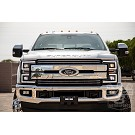 2017-2019 F250 & F350 ANZO LED Switchback Outline Projector Headlights (Black Housings) 10