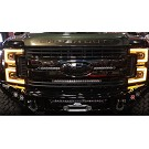 2017-2019 F250 & F350 ANZO LED Switchback Outline Projector Headlights (Black Housings) 23