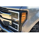 2017-2019 F250 & F350 ANZO LED Switchback Outline Projector Headlights (Black Housings) 13