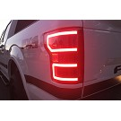2018-2019 F150 ANZO DRL Outline LED Taillights (Black Housings) 09