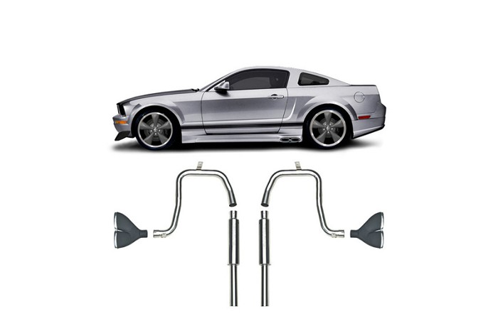 2005-2009 Mustang V6 Convertible Cervini's Side Exhaust Kit