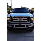 2008-2010 F250 & F350 Custom Auto Works Raptor Style LED Amber Grille Light Kit 09