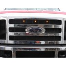 2008-2010 F250 & F350 Custom Auto Works Raptor Style LED Amber Grille Light Kit 01