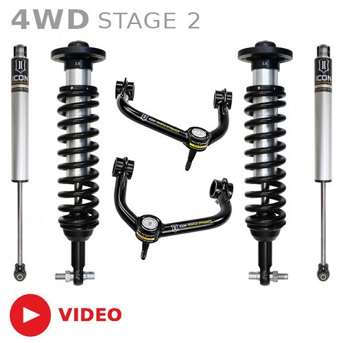 "2015-2018 F150 4WD ICON Stage 2 0-2.5"" Suspension System"