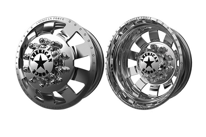 2005-2020 F350 Dually American Force 23 Bolt 22x8.25