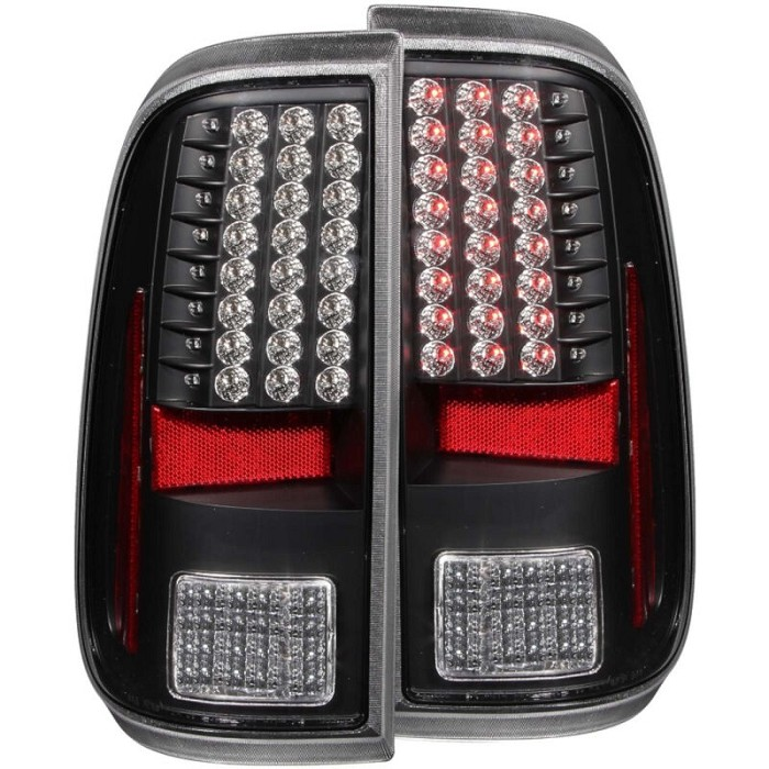 2008-2016 F250 & F350 ANZO LED Tail Lights (Black/Clear)