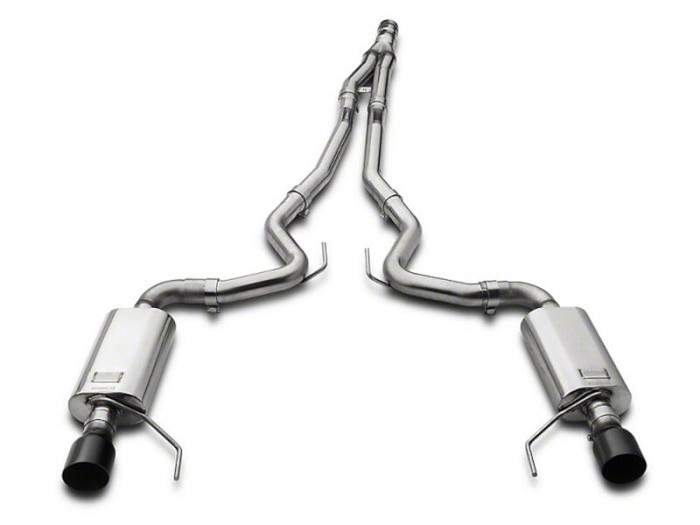 2015-2020 Mustang 2.3L EcoBoost Kooks Cat-Back w/ Y-Pipe (Black Tips)