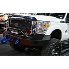 2011-2016 F250 & F350 Iron Cross Replacement Winch-Ready Front Bumper - Push Bar Model 03