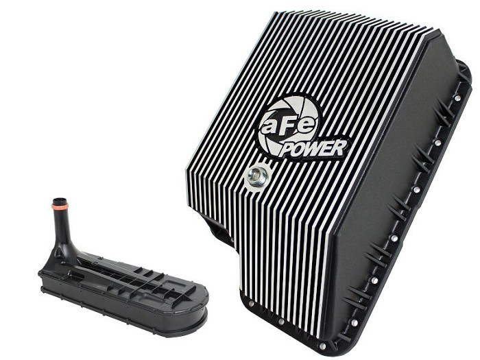 1994-2010 F250 & F350 7.3/6.0/6.4 aFe Machined Transmission Pan (F5R110 & F5R110W Only)