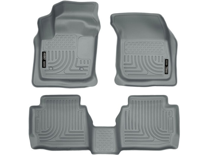 2013-2017 Fusion Husky WeatherBeater Front & Rear Floor Mats (Gray)