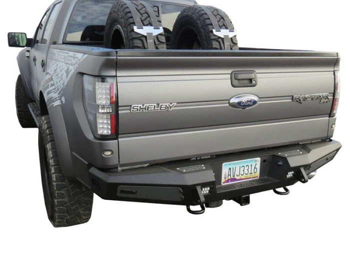 2009-2014 F150 & Raptor ADD Honey Badger Rear Bumper with Tow Hooks & Backup Sensors