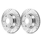 2007-2012 GT500 Power Stop High-Carbon Track Day Front Rotors 03
