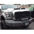 2011-2016 F250 & F350 Iron Cross Replacement Winch-Ready Front Bumper - Push Bar Model 02