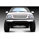 1999-2002 F150 T-Rex X-Metal Series Studded Front Grille (Polished SS) 03